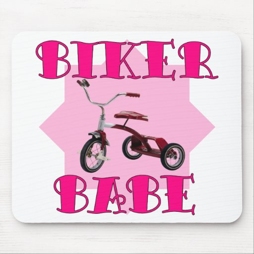 Biker Babe /pink Mouse Pad