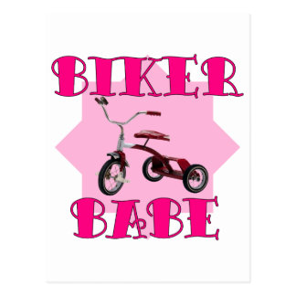 Biker Babe /pink Postcard