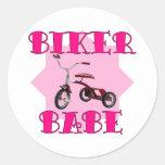 Biker Babe /pink Stickers