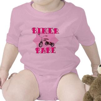 Biker Babe /pink Baby Creeper
