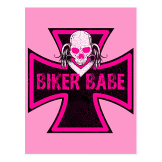 BIKER BABE POST CARDS