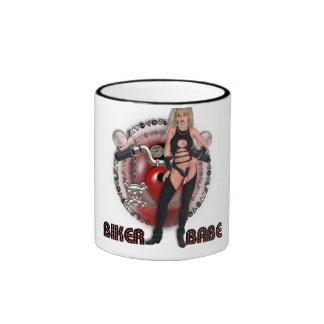 Biker Babe - Ringer Mug