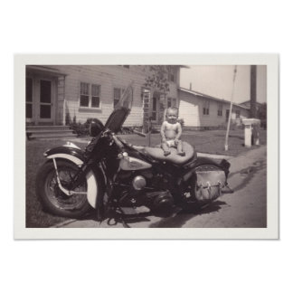 biker baby card
