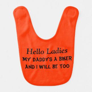 biker baby baby bibs