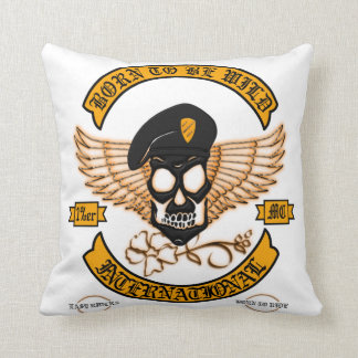 Biker Badge Throw Pillow