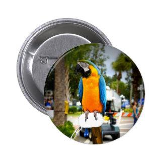 Biker Bird Button
