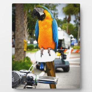Biker Bird Photo Plaques