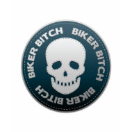 Biker Bitch Skull Stitch shirt