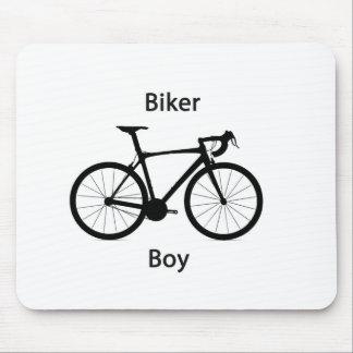 Biker boy mouse pad
