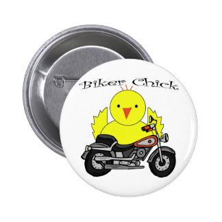 Biker Chick 2 Inch Round Button