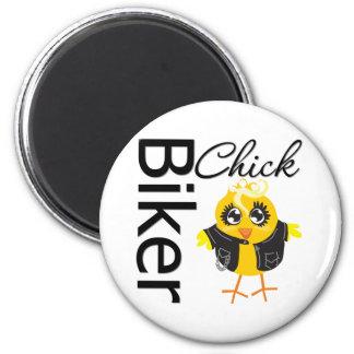 Biker Chick 2 Inch Round Magnet