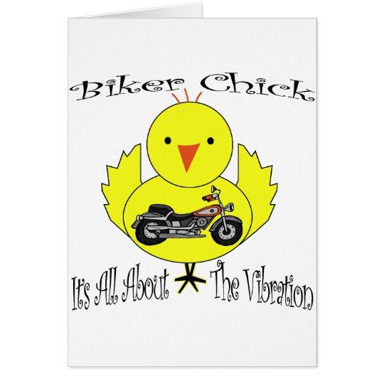 Biker Chick Card