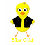Biker Chick - Customizable Ladies T-shirt shirt
