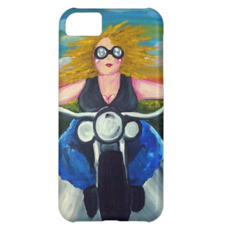 Biker Chick Diva Fun Folk Art Harley Whimsical Cover For iPhone 5C