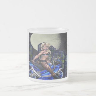 Biker Chick - Frosted Glass Mug