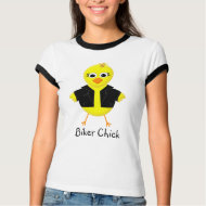 Biker Chick - Fun Cartoon Ladies T-shirt shirt