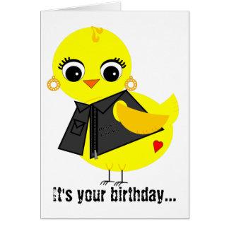 Biker Chick Greeting Card