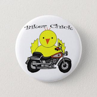 Biker Chick Pinback Button