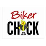 Biker Chick Postcard