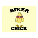 Biker Chick Postcards