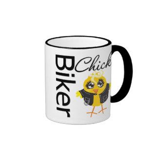 Biker Chick Ringer Mug