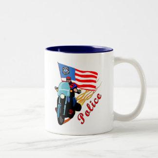 Biker Cops Two-Tone Coffee Mug