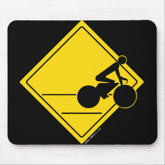Biker Crossing Mouse Pad