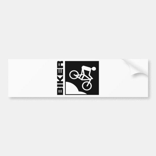 biker cyclist bike mtb mountainbike downhill bumper sticker