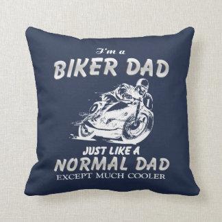 Biker DAD Throw Pillow