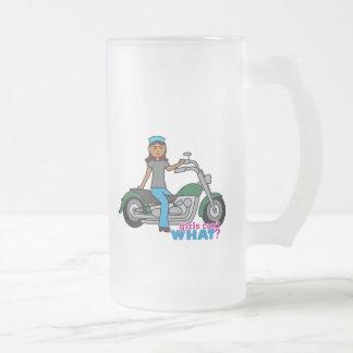 Biker - Dark Frosted Glass Beer Mug