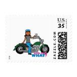 Biker - Dark Postage Stamps