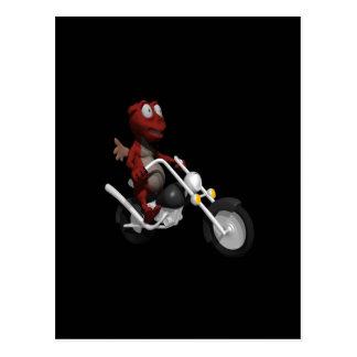 Biker Devil Postcard