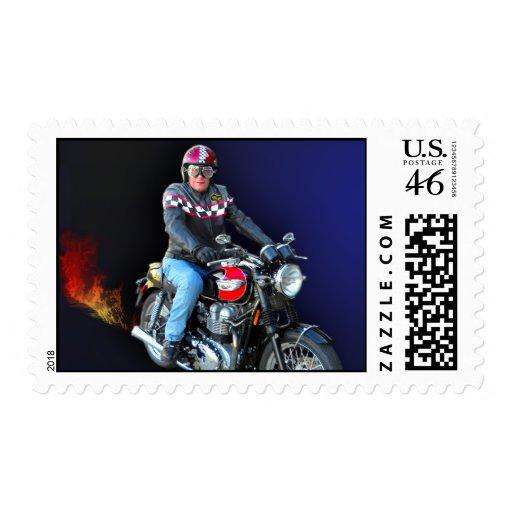Biker Don Postage Stamp