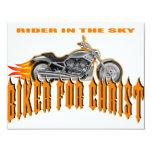 Biker For Christ 4.25x5.5 Paper Invitation Card