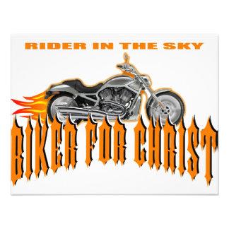 Biker For Christ Custom Invitation
