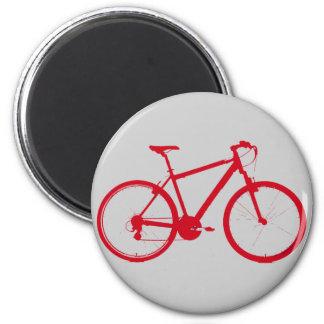 Biker for the freezer 2 inch round magnet