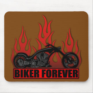 Biker Forever Mouse Pad