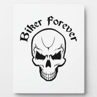 BIKER FOREVER DISPLAY PLAQUE