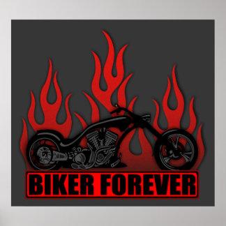 Biker Forever Poster