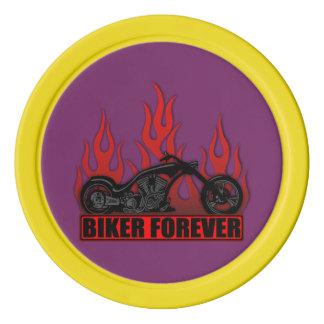 Biker Forever Set Of Poker Chips