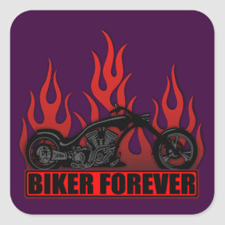Biker Forever Square Sticker