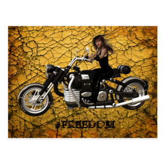 Biker Freedom Postcard