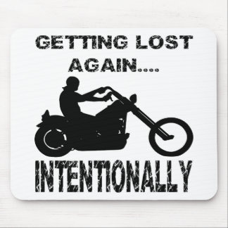 Biker Getting Lost Again Intentionally Mouse Pad