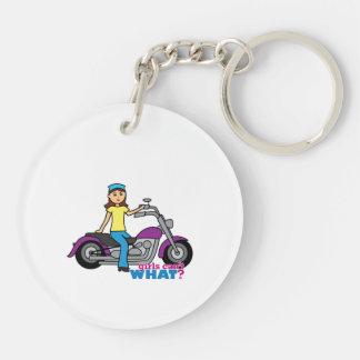 Biker Girl Keychain