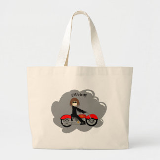 BIKER GIRL - LOVE TO BE ME.png Bag