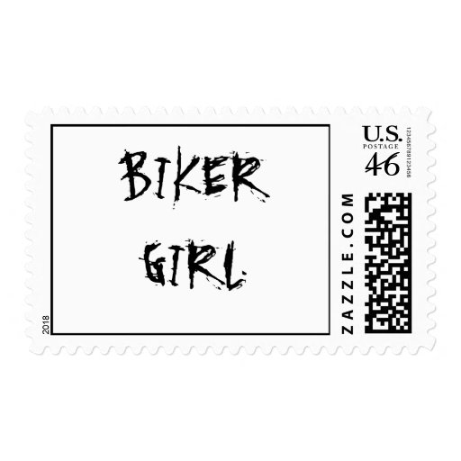 BIKER GIRL STAMP