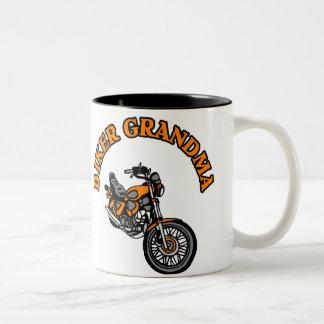 BIKER GRANDMA Two-Tone COFFEE MUG