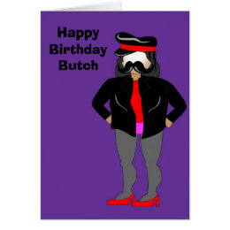 biker, Happy Birthday Butch Card