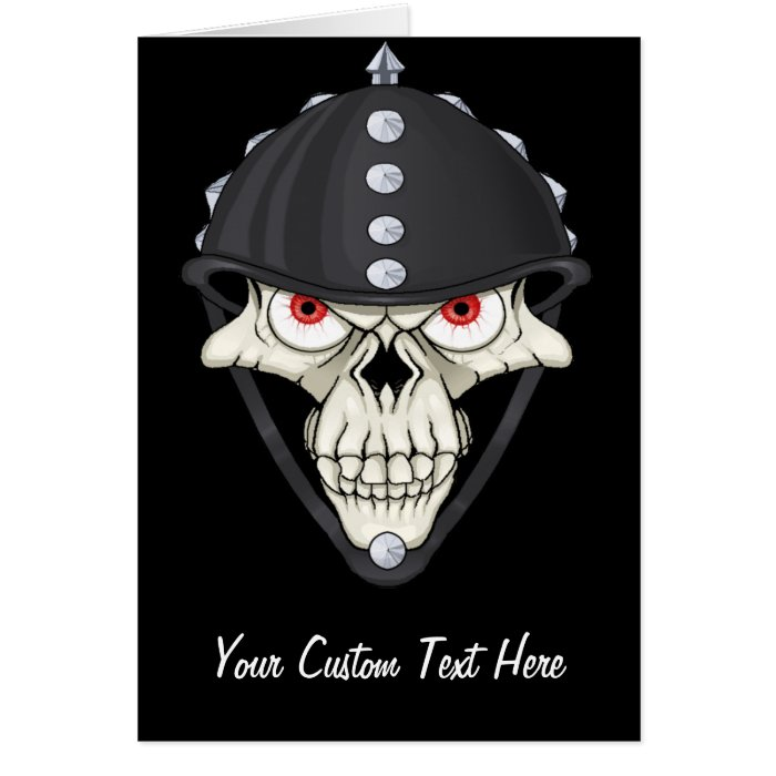 Biker Helmet Skull design for Motorcycle Riders Card