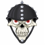 Biker Helmet Skull design for Motorcycle Riders Acrylic Cut Out